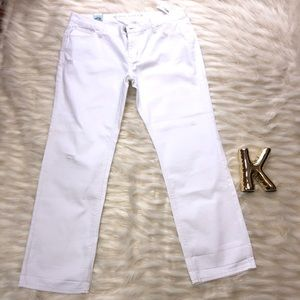 NWT Old Navy distressed white jeans size 14